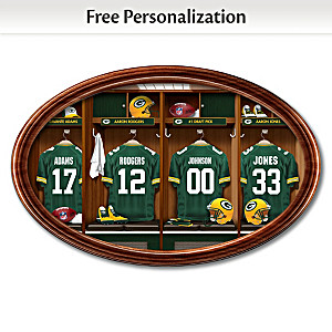 Green Bay Packers Locker Room Art With Personalized Name