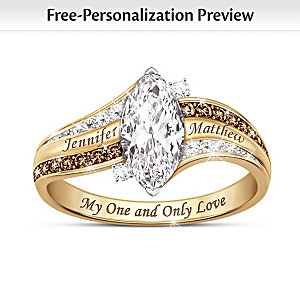Romantic Personalized Diamond Ring With A 2-Carat Topaz