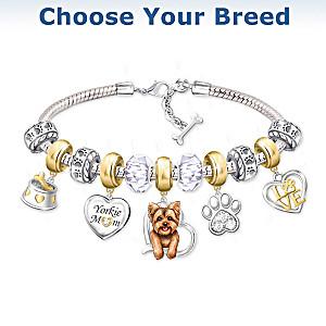 """Dog Mom"" Charm Bracelet: Choose Your Breed"