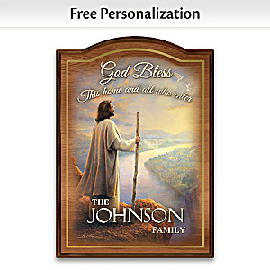 Greg Olsen Religious Art Personalized Welcome Sign