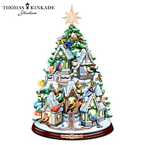 Thomas Kinkade Illuminated Tree With Songbird Melodies