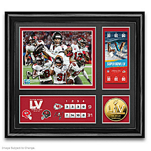 Tampa Bay Buccaneers Super Bowl LV Framed Commemorative