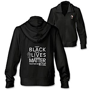 Black Lives Matter Cotton-Blend Full-Zip Women's Hoodie