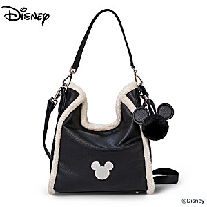 """Disney Luxe"" Faux Leather And Sherpa Handbag"