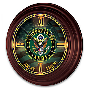U.S. Army Indoor/Outdoor Illuminated Atomic Wall Clock