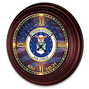 U.S. Air Force Indoor/Outdoor Illuminated Atomic Wall Clock