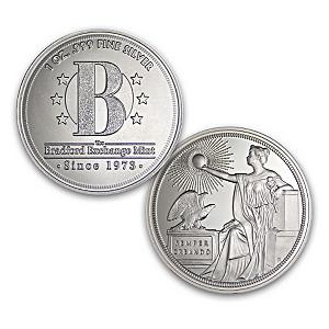 Bradford One Oz. .999 Fine Silver Round Coin