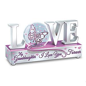 """""""L-O-V-E You Granddaughter"""" Musical Glitter Globe"""