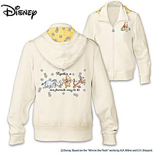 """Disney Winnie The Pooh """"Friends Together"""" Full-Zip Hoodie"""