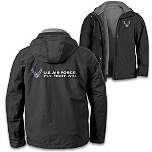 """""""U.S. Air Force Pride"""" Men's 3-In-1 Convertible Jacket"""