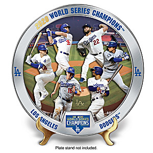 Los Angeles Dodgers 2020 World Series Commemorative Plate