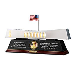 Pearl Harbor USS Arizona Memorial 80th Anniversary Sculpture