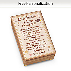 """Congratulations, Graduate"" Personalized Wooden Music Box"