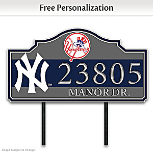 New York Yankees Personalized Outdoor Address Sign