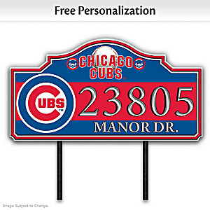 Chicago Cubs Personalized Outdoor Address Sign