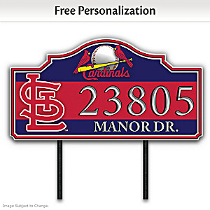 St. Louis Cardinals Personalized Outdoor Address Sign