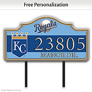 Kansas City Royals Personalized Outdoor Address Sign