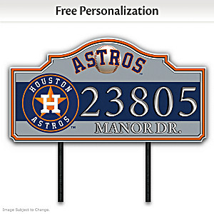 Houston Astros Personalized Outdoor Address Sign