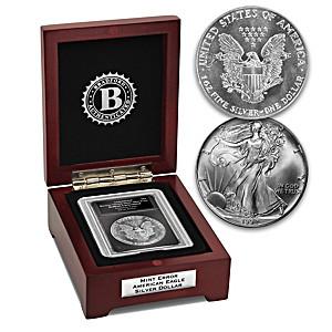The Struck Thru Reverse Error Silver Eagle Coin