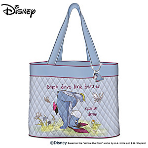 "Disney Winnie The Pooh ""Eeyore"" Quilted Tote Bag With Charm"