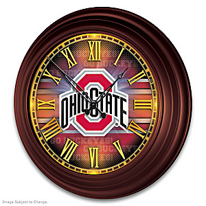 Ohio State Buckeyes Illuminated Atomic Wall Clock