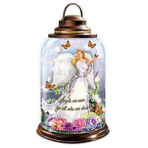 """Peaceful Presence"" Illuminated Angel Cloche"