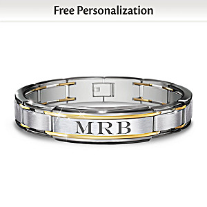 """""""The Strength Of My Son"""" Personalized Men's Bracelet"""
