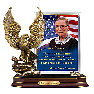 Ruth Bader Ginsburg Heirloom Tribute Sculpture With Quote