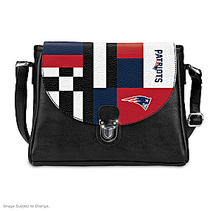 New England Patriots Interchangeable Flap Handbag