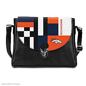 Denver Broncos Interchangeable Flap Handbag