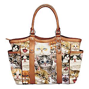"Kayomi Harai ""Cats With Purr-sonality"" Shoulder Tote Bag"
