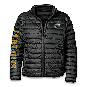 """Semper Fi Pride"" Men's Packable Jacket With Storage Pouch"