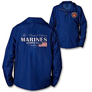 U.S. Marines Men's Lightweight Water Resistant Jacket