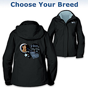"""""""I Love My Dog"""" 3-In-1 Women's Jacket: Choose Your Dog Breed"""