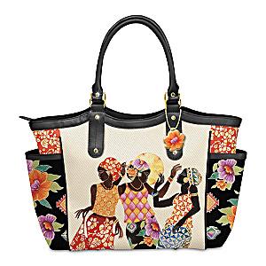 "Keith Mallett ""Jubilation"" Designer-Style Tote Bag"