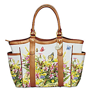 Marjolein Bastin Art Shoulder Tote With Butterfly Charm