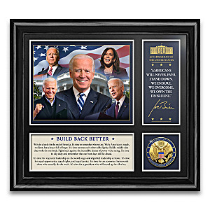 The 46th U.S. President Biden Framed Display With Medallion