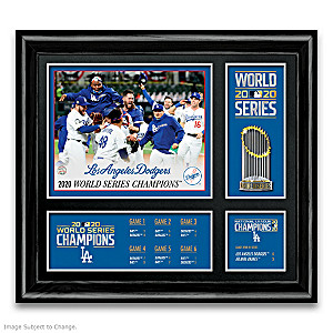 Dodgers 2020 World Series Champions Framed Wall Decor