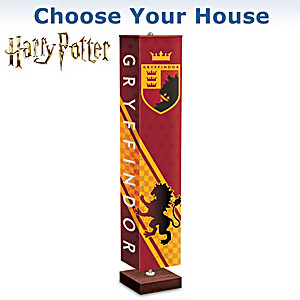 HOGWARTS Floor Lamp With Art On All Sides: Choose Your House