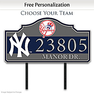 MLB Personalized Outdoor Address Sign: Choose Your Team