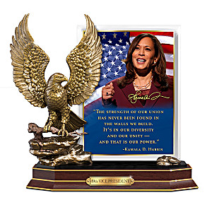 Vice President Kamala Harris Sculpture With Inspiring Quote