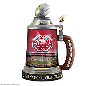 Alabama 2020 Football National Champions Commemorative Stein