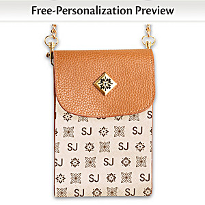 Beige Crossbody Bag Personalized With Initials
