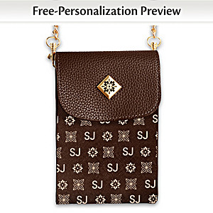 Brown Crossbody Bag Personalized With Initials