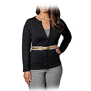 """""""Be Empowered"""" Women's Sweater With Adjustable Belt"""