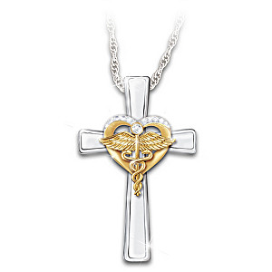 White Topaz Pendant Necklace Honors Healthcare Professionals