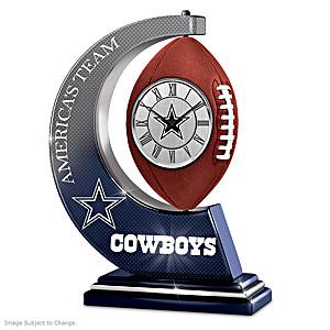 Dallas Cowboys Rotating Table Clock