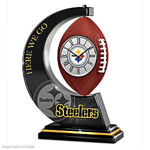 Pittsburgh Steelers Rotating Table Clock