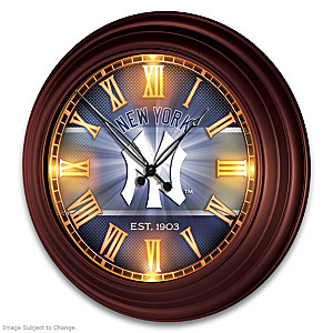 New York Yankees Illuminated Atomic Wall Clock