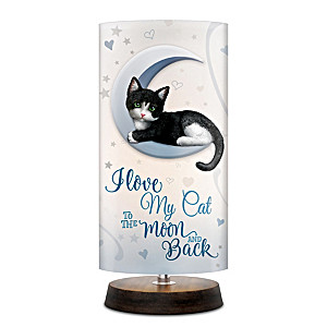 Cat Artistic Table Lamp With Fabric Shade